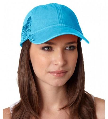 Adams Cap Baseball Hat LPAC1 Cotton Twill Resort Adirondack Chairs - Caribbean Blue - C1117A9GFCR