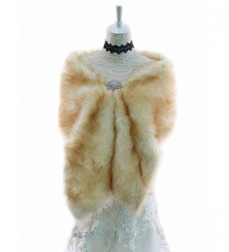 Bridalvenus Wedding Fur Wraps and Shawls-Fur Stoles and Scarves for Women - CH12N25S3I7