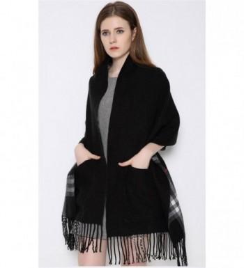 Runtlly Womens Tartan Checked Pashmina in Fashion Scarves
