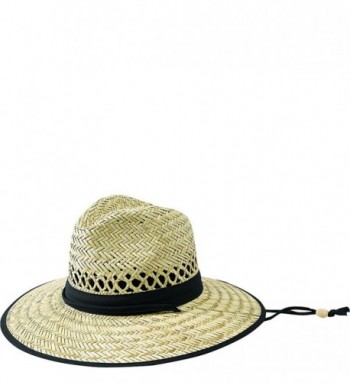 San Diego Hat Co. Men's Olive Band Raffia Sun Hat - Natural / Black - C111GTB4Y7L