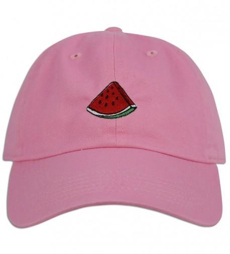 Watermelon Cap Hat Fruit Dad Fashion Baseball Adjustable Style Unconstructed new - Lt Pink - C8182A9WEAK