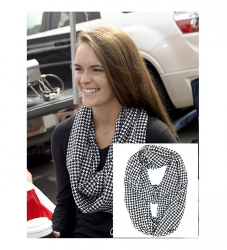Tapp Multicolor Houndstooth Infinity Scarf