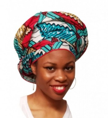 Turquoise African Print Ankara scarf