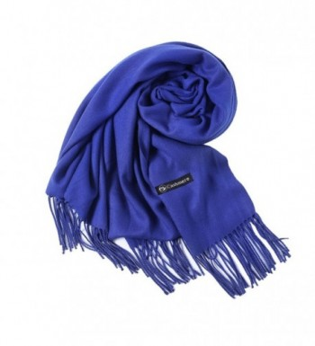 Plain Scarf Woolen Feel Muffler Large Blanket Winter Wraps Shawl foci cozi - Blue - CT186E7IMAR