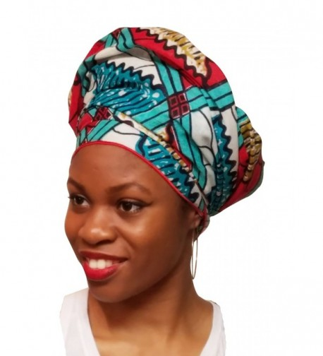 Turquoise African Print Ankara scarf in Fashion Scarves