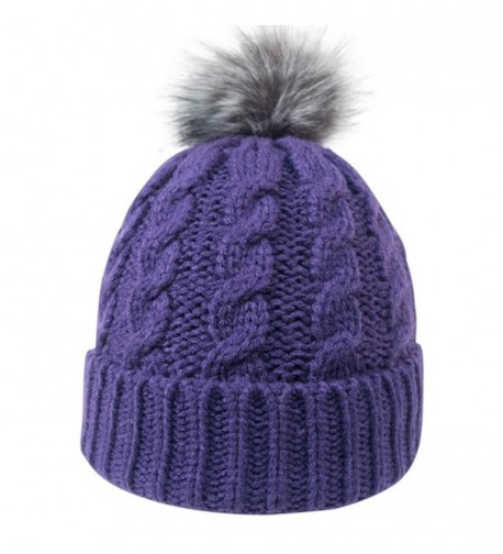 f3b3e87f22845f Women's Solid Warm Knitted Hat Winter Ear Protective Cozy Caps Black ...