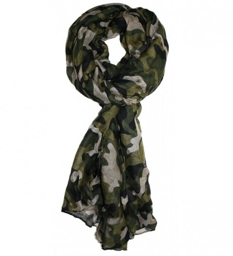 Ted and Jack - Lightweight Camouflage Print Scarf - Greens - CA186L5DOMQ