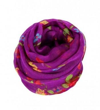 Sandistore Women Scarf Flower Purple in Fashion Scarves
