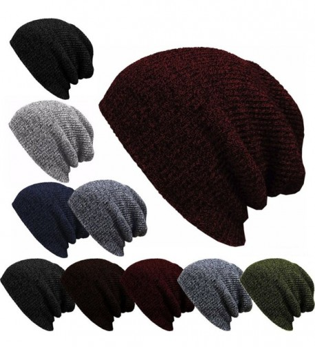07b810fa2 Unisex Mens Knitted Beanie Baggy Hat Winter Ski Skull Cap Wine Red  CM12MXXWN2O