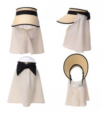 Siggi Straw Packable Summer Detachable in Women's Sun Hats