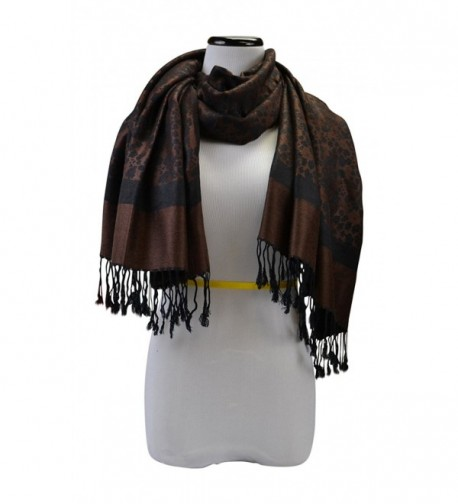 Floral Jacquard Womens Fashion Accent in Wraps & Pashminas