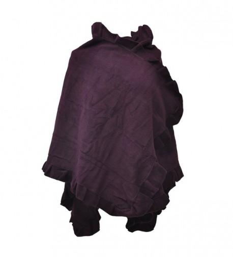 Toutacoo- Women's Fleece Poncho - 06-purple - CS11JCCL8JB