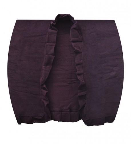 Toutacoo Womens Fleece Poncho 06 Purple
