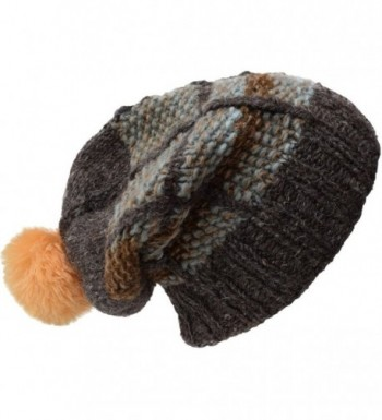 Little Kathmandu Woolen Patch Knitted Fleece Lined Multicoloured Beanie Hats - S - CM12O866WQ9
