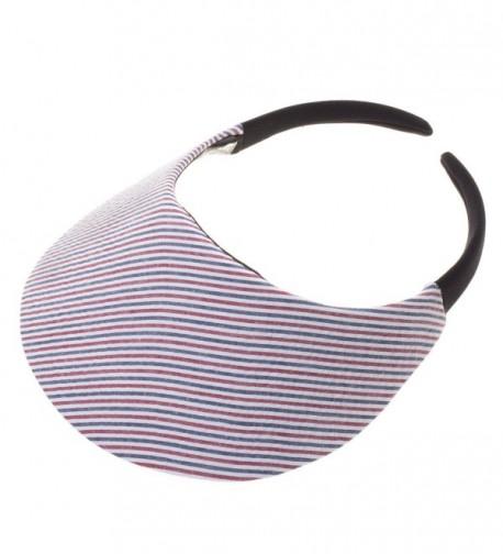 Stripe Red & White & Blue Visor - CG12E3BEF59
