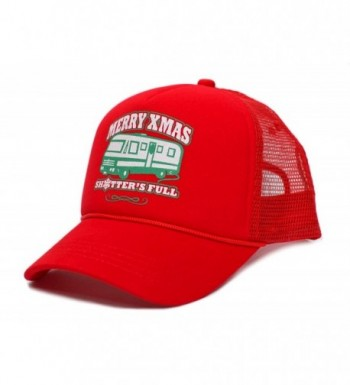 Merry Christmas Xmas Shitter's Full Funny Truckers Hat Cap Red - CC187IC4540