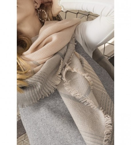 Metrust Square Checked Scarves Blanket in Fashion Scarves