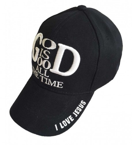78a8a843764 Embroidery God Is So Good All The Time Christian Baseball Cap Black ...