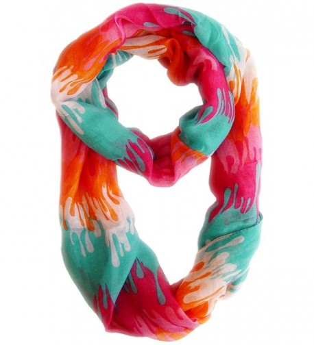 Peach Couture Abstract Multicolored Infinity in Fashion Scarves