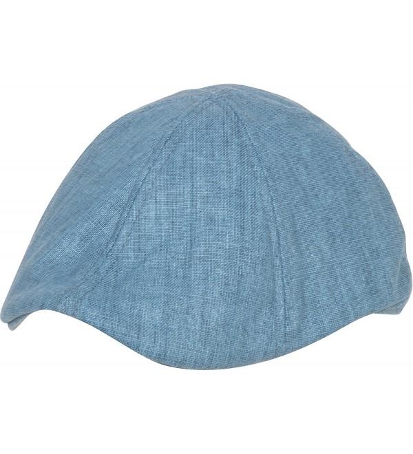 Sakkas Mens Linen Newsboy Ivy Flat Cap - Blue - C311DMJ9MBV