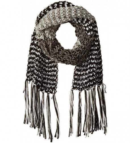 RAMPAGE Women's Multi-colored Marled Oblong Scarf - Black/Multi - CZ12JOPFGQL