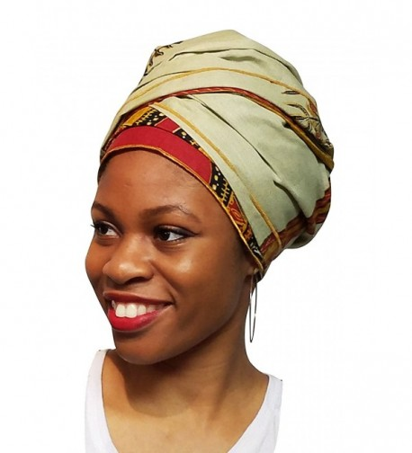 Laurel Green Dashiki African Print Ankara Head wrap- Tie- scarf- Multicolor- One size - C012ODWLT2K
