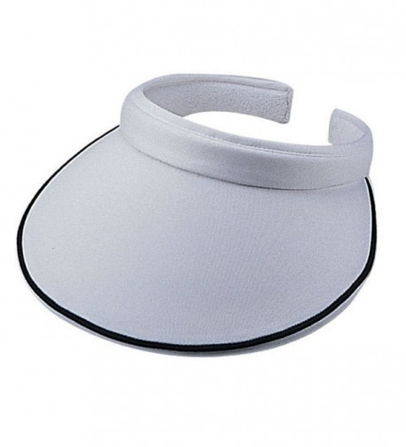 Cotton Twill Clip on Athletic Visor - White - CJ11CJQ0RVH