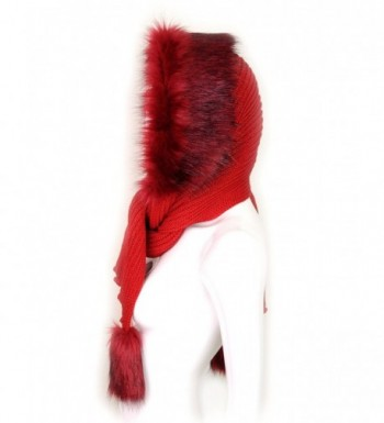 Futrzane Women Hooded Scarf Knitted