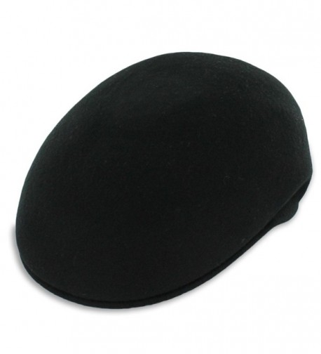 Hats in the Belfry Belfry Ascot - Molded Wool IVY Cap - Black - CM11YODUDZN