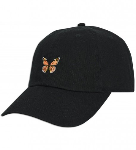 Monarch Butterfly Embroidered Adjustable Unconstructed