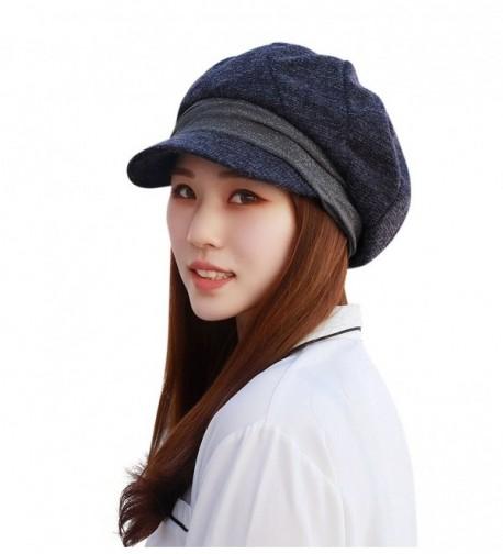 Home Prefer Womens Hat with Visor Newsboy Hat Ivy Cap Banded Beret - Vintage Blue - CW186YNIRSX