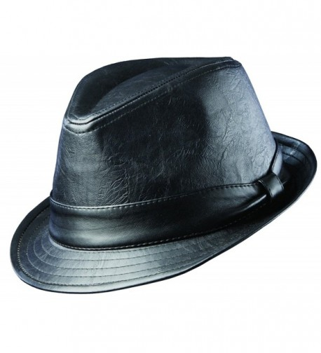 dd758c481 Top 10 Punto Medio Noticias | Black Leather Fedora Hat Mens