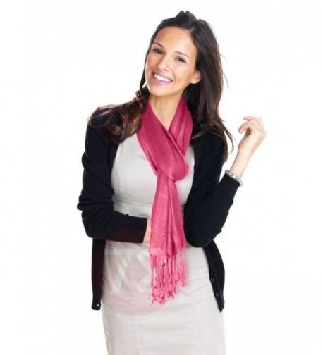 Kuldip Unisex Pashmina Scarf Shawl Wrap Throw Vibrant Pink - C21130YEN3F