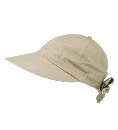 Womens Khaki Wide Gardening Visor in Women's Sun Hats