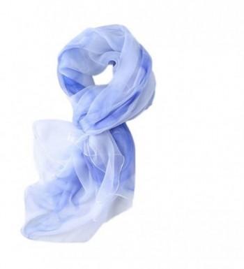 S&S Women's Lightweight Silk Feeling Infinity Scarves Large Long Shawl Wrap - 02-sky Blue - C6184X7Z4X8