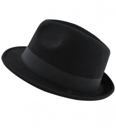 9493230fc332b7 Fedora Hats for Women Men-Winter Roll-up Brim Trilby Woolen Jazz Cap ...