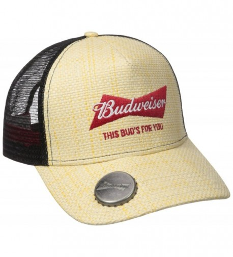 Budweiser Men's Hat - Natural Straw - CQ12DSB2YHB