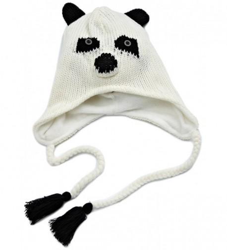 D&Y Women's Animal Face Knit Hat - Panda - CR116GQB7RJ
