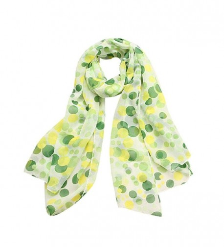 Lookatool Women Lady Chiffon Dots Long Soft Neck Scarf Shawl Scarves Stole Wraps - Green - CM1265OTK75