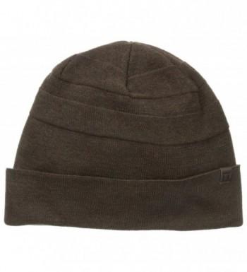 Haggar Men's Tonal Stripe Knit Watchcap - Brown - C611N2INUMJ