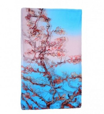 Salutto Women Luxurious Charmeuse Blossom in Fashion Scarves