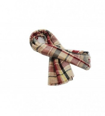 Plaid Blanket Tassels Scarf Gorgeous in Cold Weather Scarves & Wraps