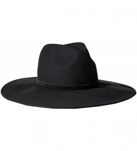 Goorin Bros. Women's Queen Of Knives Wool Felt Wide Brim Fedora Hat - Black - CA12EPL4VZL