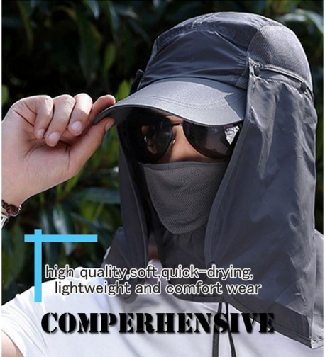 YOYEAH Fishing Quick drying Protection Removable in Men's Sun Hats
