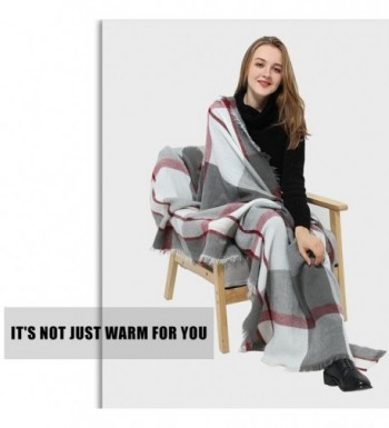Blanket Square Womens Winter Tartan in Cold Weather Scarves & Wraps