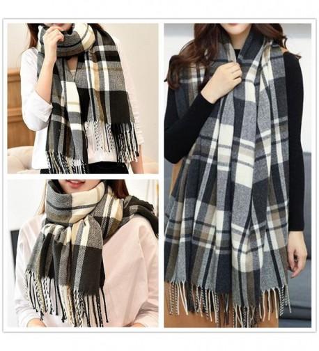 Blanket Tartan Scarves during Black White
