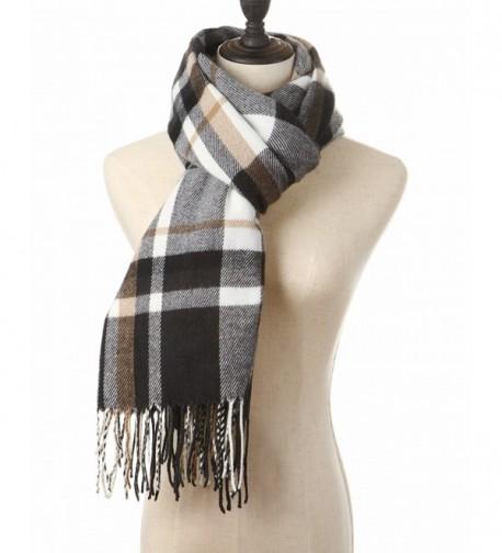 Blanket Tartan Scarves during Black White in Cold Weather Scarves & Wraps