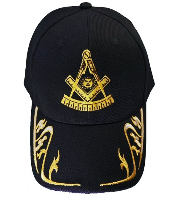 Past Master Mason Baseball Cap Freemason Hat Mens One Size Black - CV120RQ27ZT