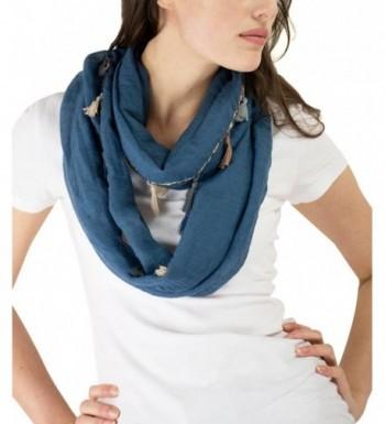 Modadorn Chevron Infinity Tonedown Tassels in Fashion Scarves