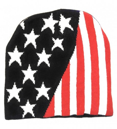 USA Knit Cap American Stars Stripes Beanie Skull comfort warm Double Layer cozy interior - CO12O16FGIC
